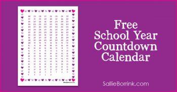 Free School Year Countdown Calendar 2