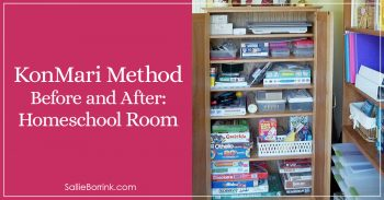 KonMari Method Before and After in Our Homeschool Room 2