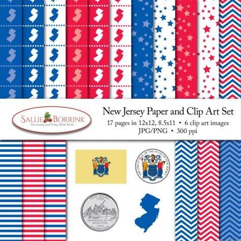 New Jersey Paper and Clip Art Set