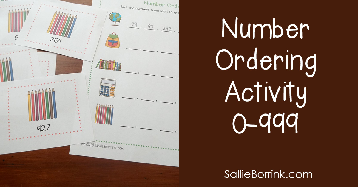 Number Ordering Activity 0-999 2