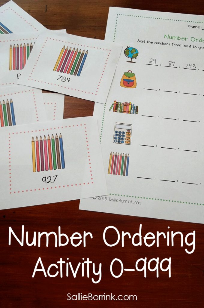 Number Ordering Activity 2