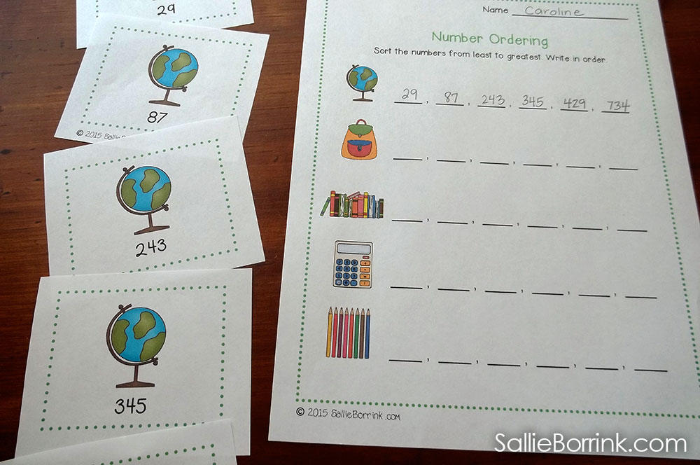 Number Ordering Activity