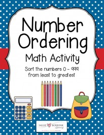 Number Ordering Math Activity 0-999