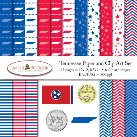 Tennessee Paper and Clip Art Set