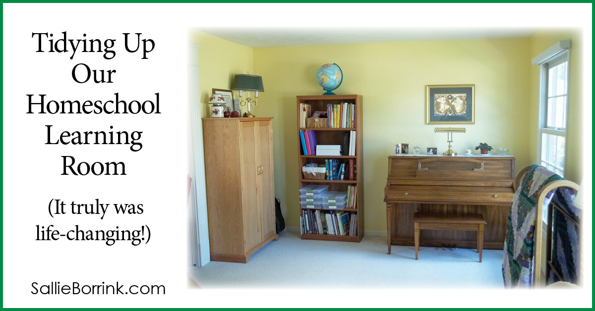 Tidying Up Our Homeschool Learning Room (It truly was life changing!) 2