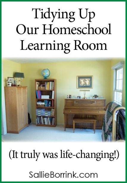 Tidying Up Our Homeschool Learning Room (It truly was life-changing!)