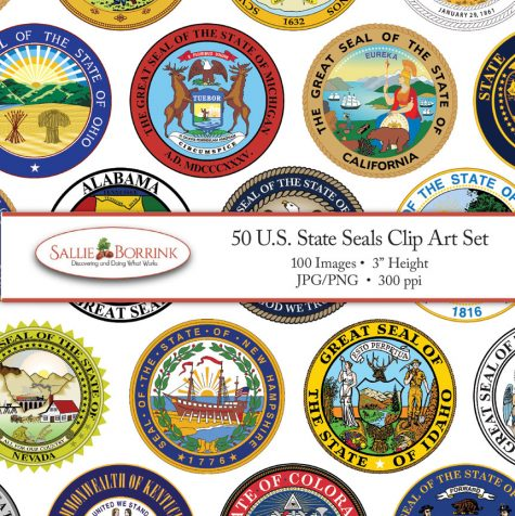 US State Seals Clip Art Set