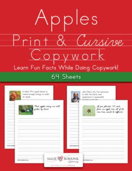 Apples Fun Facts Copywork