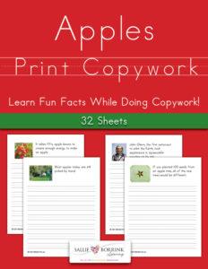 Apples Fun Facts Print Copywork