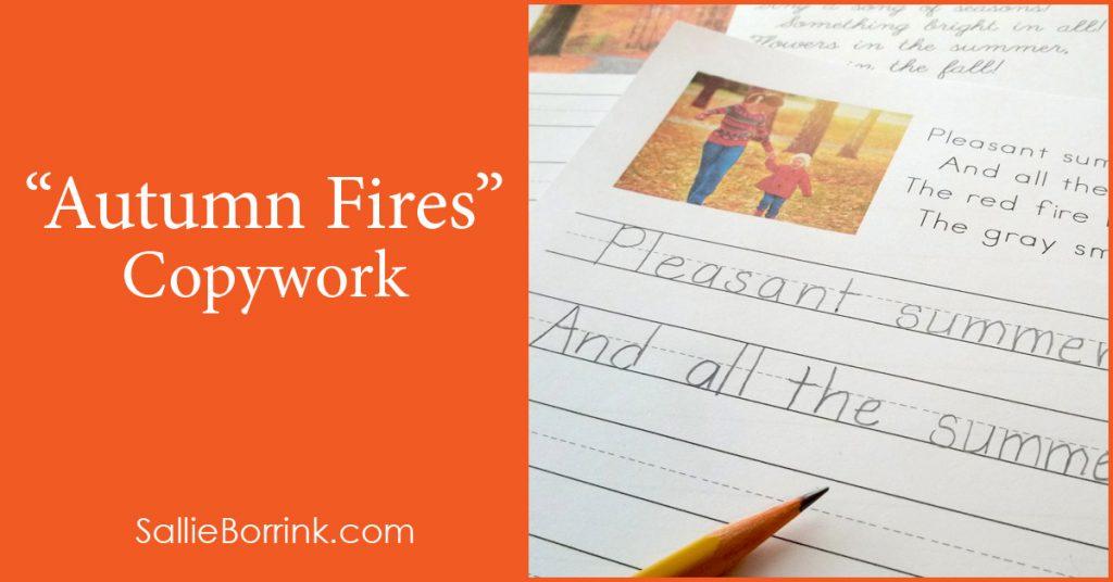 """Free """"Autumn Fires"""" Copywork"""