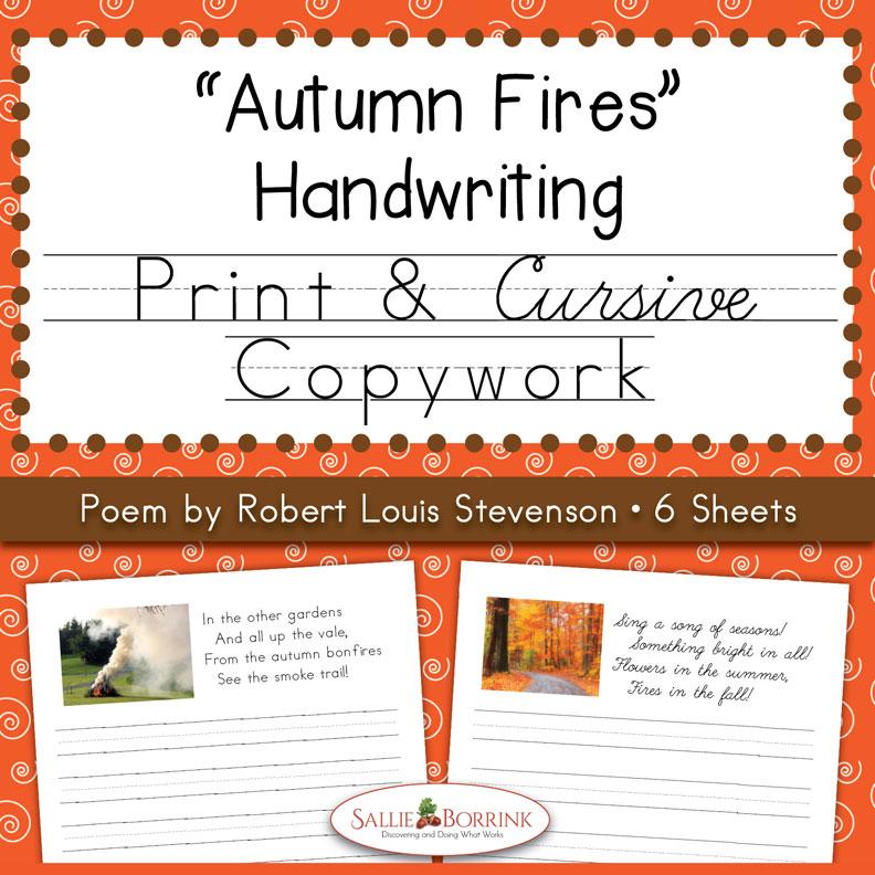 """Autumn Fires"" Fall Copywork"