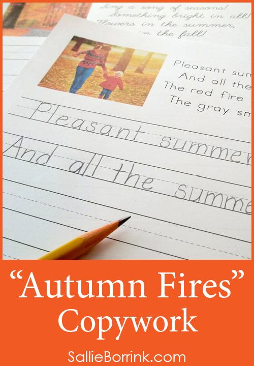 Autumn Fires Copywork