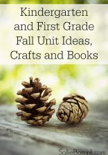 Kindergarten and First grade Fall Unit Ideas Crafts and Books