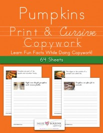 Pumpkins Fun Facts Copywork