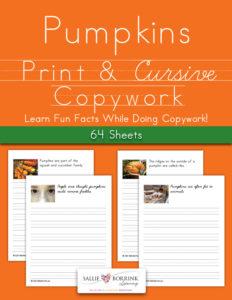 Pumpkins Fun Facts Copywork