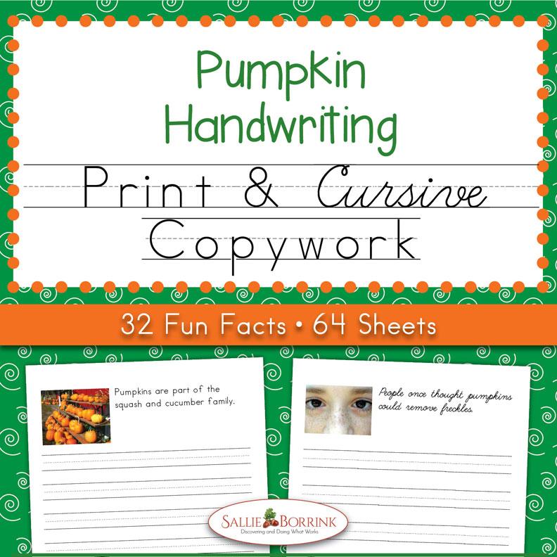 Pumpkins Copywork