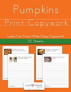Pumpkins Fun Facts Print Copywork