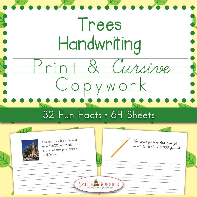 Trees Copywork – Print and Cursive