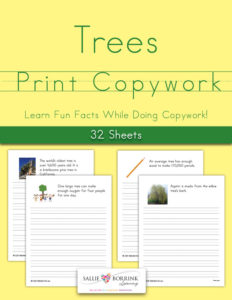 Trees Fun Facts Print Copywork