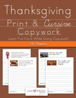 Thanksgiving Fun Facts Copywork