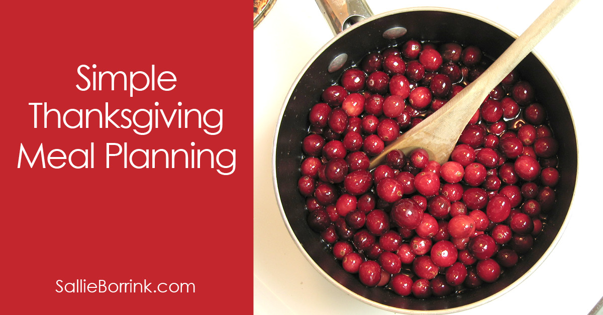 Simple Thanksgiving Meal Planning 2
