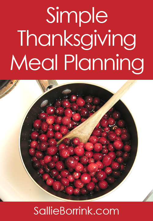 Simple Thanksgiving Meal Planning