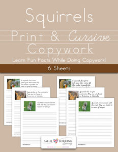 Squirrel Facts Copywork