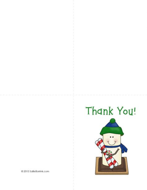 Free Christmas Thank You Cards 3