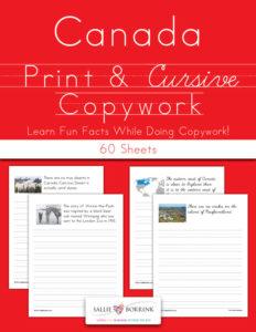 Canada Copywork – Print and Cursive