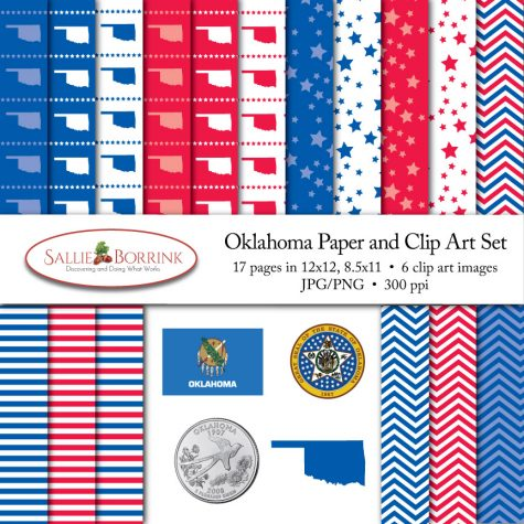 Oklahoma Paper and Clip Art Set