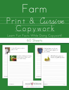 Farm Copywork – Print and Cursive