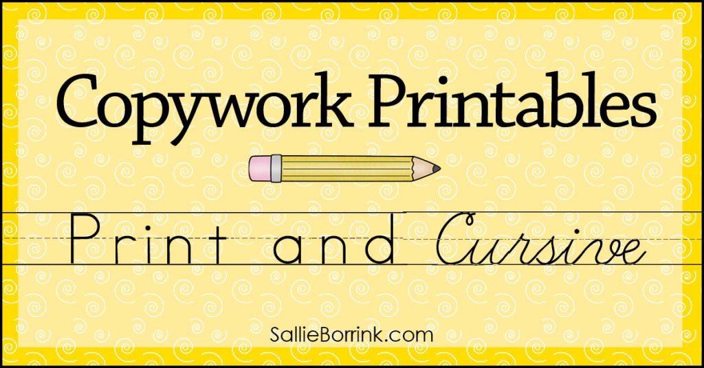 Copywork Printables 2