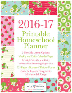 Homeschool Planner - 2016-2017 - Strawberries