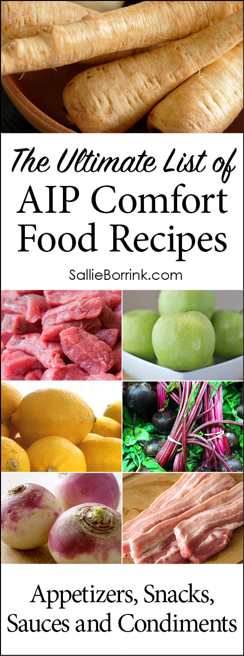 AIP Appetizers, Snacks, Sauces and Condiments