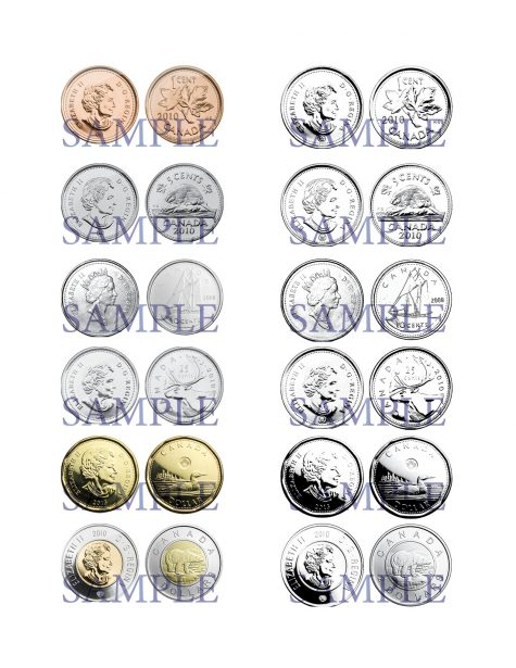 Canadian Coins Clip Art 1