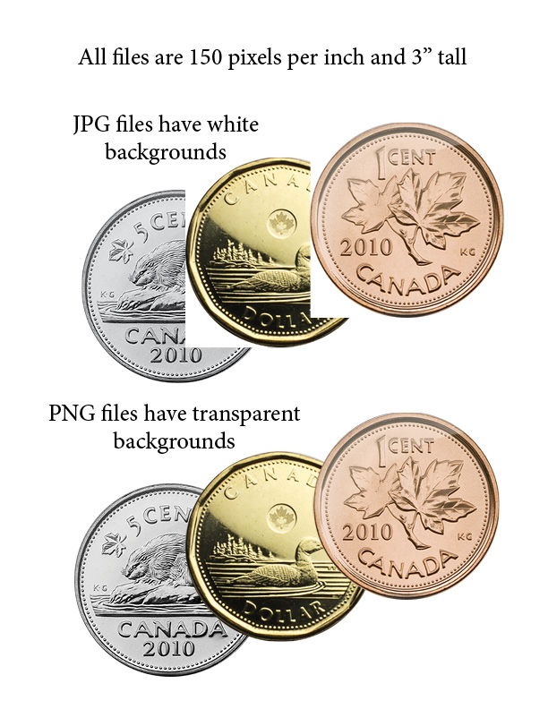 Canadian Coins Clip Art 2