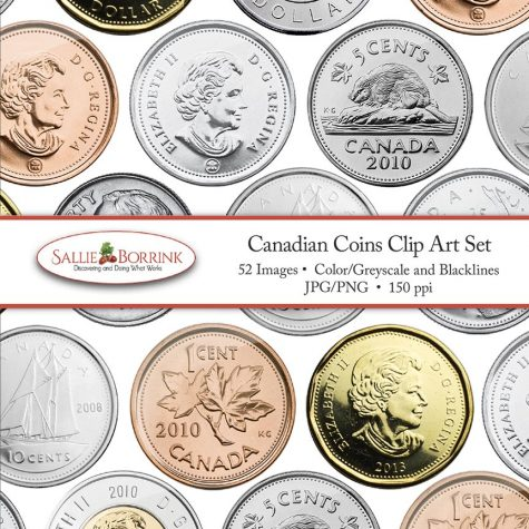 Canadian Coins Clip Art