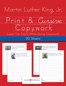 Martin Luther King, Jr. Copywork – Print and Cursive
