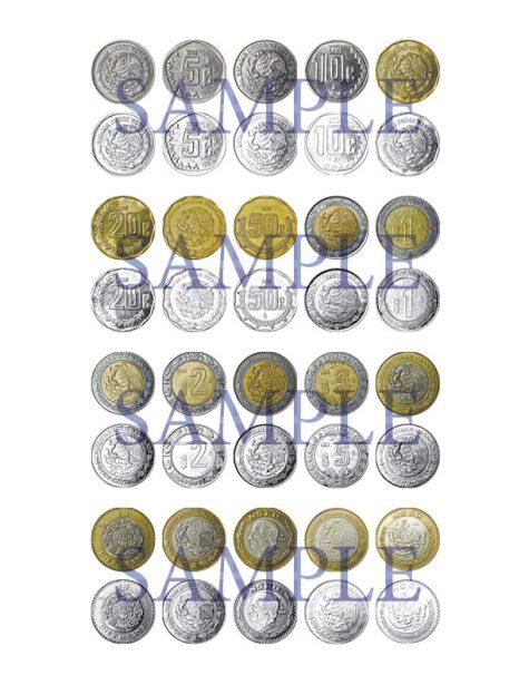 Mexico Coins Clip Art Set 1