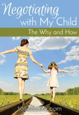 Negotiating With My Child – The Why and How