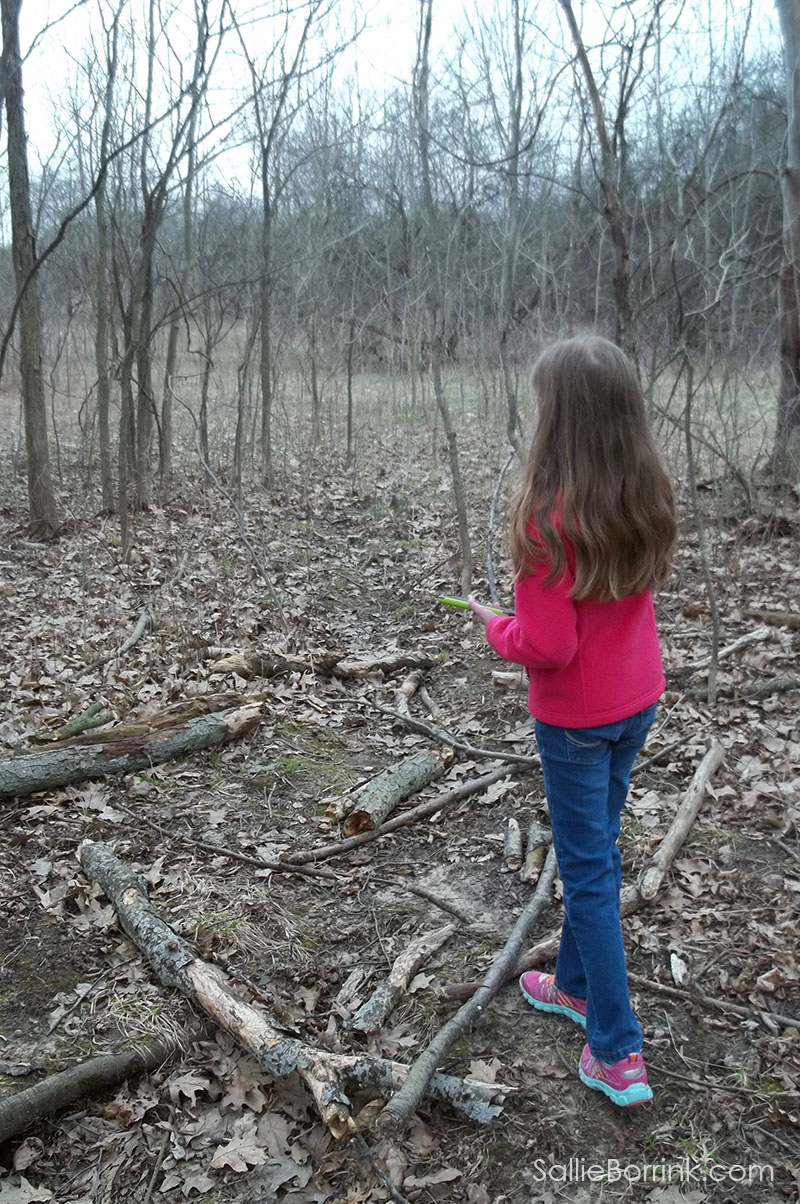 geocaching in the woods