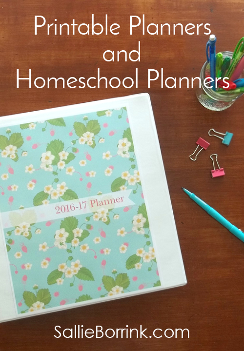 Printable Planners and Homeschool Planners2