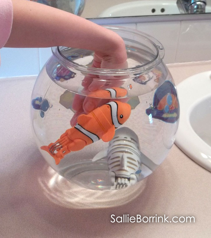 Putting Lil' Fishys in the fishbowl