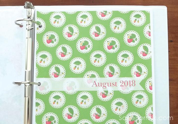 Strawberry Divider - August