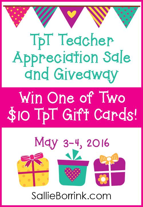 TpT Teacher Appreciation Sale and Giveaway