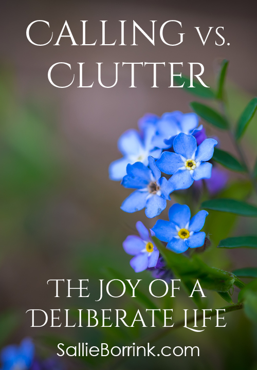 Calling vs. Clutter - The Joy of a Deliberate Life