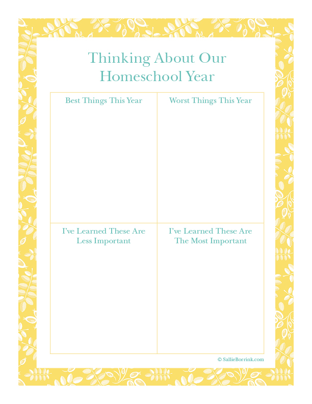 Thinking About Our Homeschool Year - Aqua and Yellow