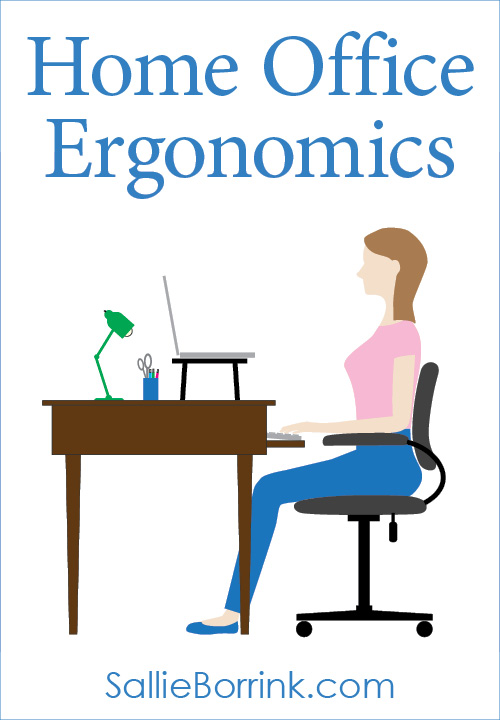 Home Office Ergonomics with a Laptop at a Desk