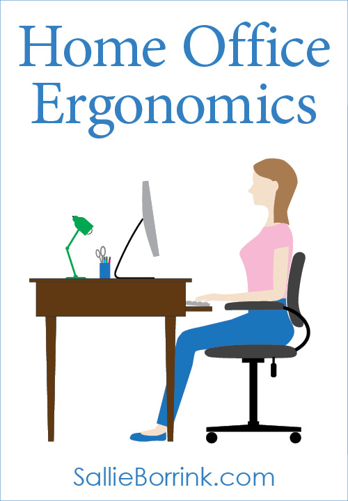Home Office Ergonomics with a Computer at a Desk
