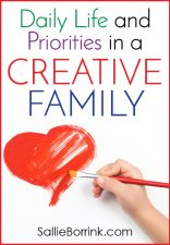 Daily Life and Priorities in a Creative Family